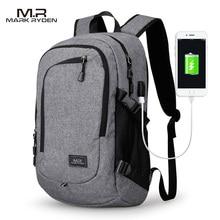 Mr компьютер рюкзак для ноутбука 15-16 дюйм(ов) зарядка через USB Мужская Большой Ёмкость дорожная сумка для подростков Водонепроницаемый рюкзак