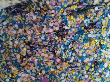 Blue White Gold pink 100g Paille Ultrathin Sequins Mixed Nail Art ROUND Shapes Confetti Acrylic Round Glitter 12