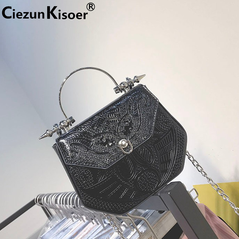 Ciezun Kisoer bags for women 2017 embossed new leisure bag fashion chain hand bill of lading shoulder bag women messenger bags foxer women bag new 2016 fashion shoulder messenger bag embossed chain bag