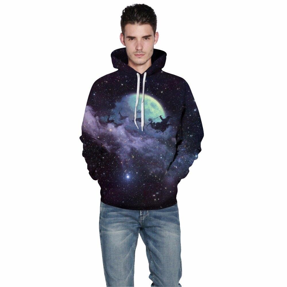 Mr.1991inc Новый Для мужчин Толстовки с капюшоном цифровой печати небо Рождество оленей Повседневное кофты Для мужчин Толстовка пуловеры M167