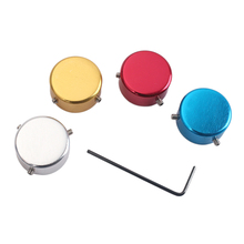 4 Pieces Aluminum Alloy Foot Nail Cap Protection with Wrench for Effect Pedal Parts Accessories