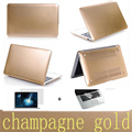 Hot!frosted matte Gold laptop case+two gifts pro 13 air 11 13 retina 13 notebook sleeve protective shell for macbook