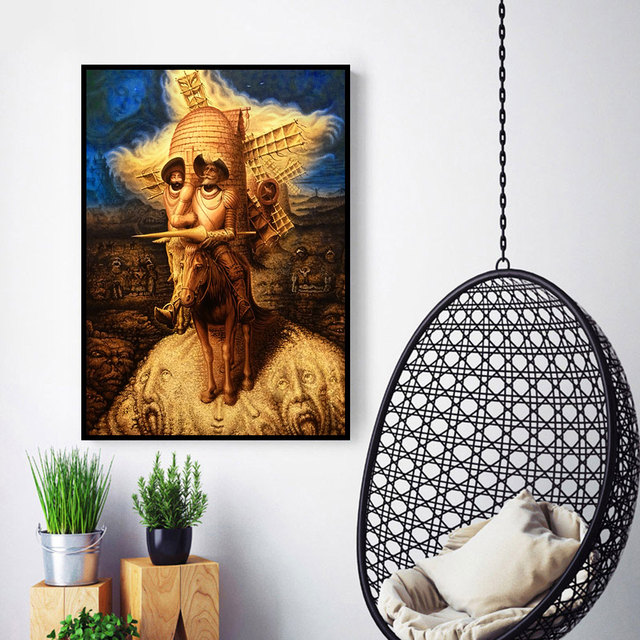 Abstract Decoration Pictures Canvas Painting Don Quixote Oil Paintings 4