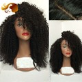 150% Density Virgin Brazilian Full Lace Wigs Kinky Afro Curly Glueless Lace Front Human Hair Wigs With Baby Hair For Black Women
