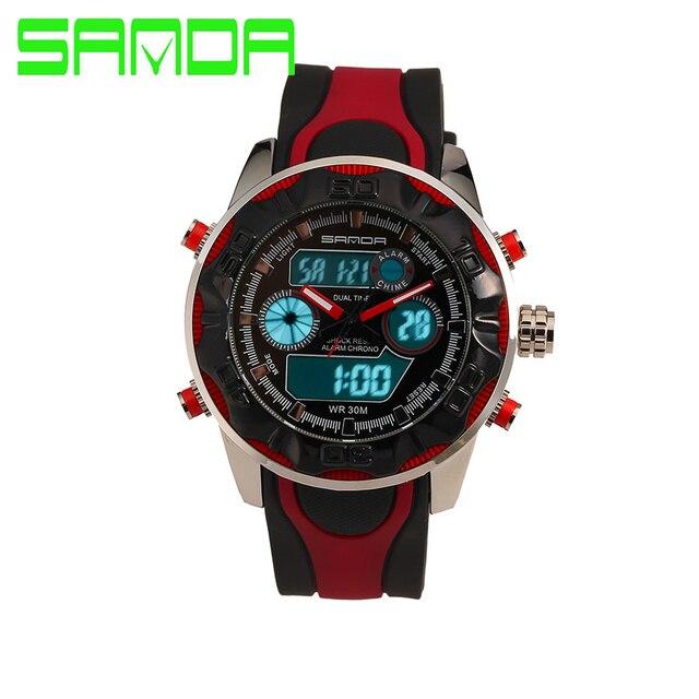 Мужские Часы 2016 SANDA G Стиль Водонепроницаемый Спорт Военная Часы Шок Роскошные Аналоговые Цифровые Спортивные Часы Мода Часы Мужчины