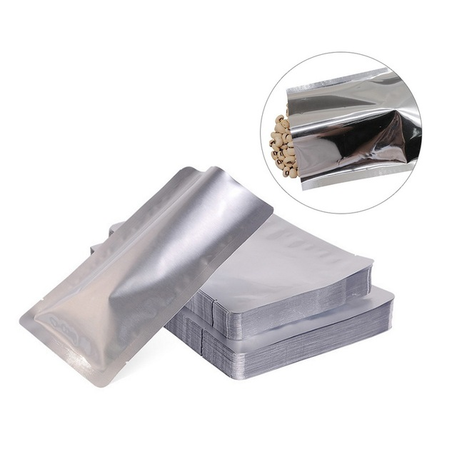 Hoomall 100pcs Vacuum Sealer Pouches Storage Bag Heat Seal Aluminium Foil Bags Food Grade Sealing