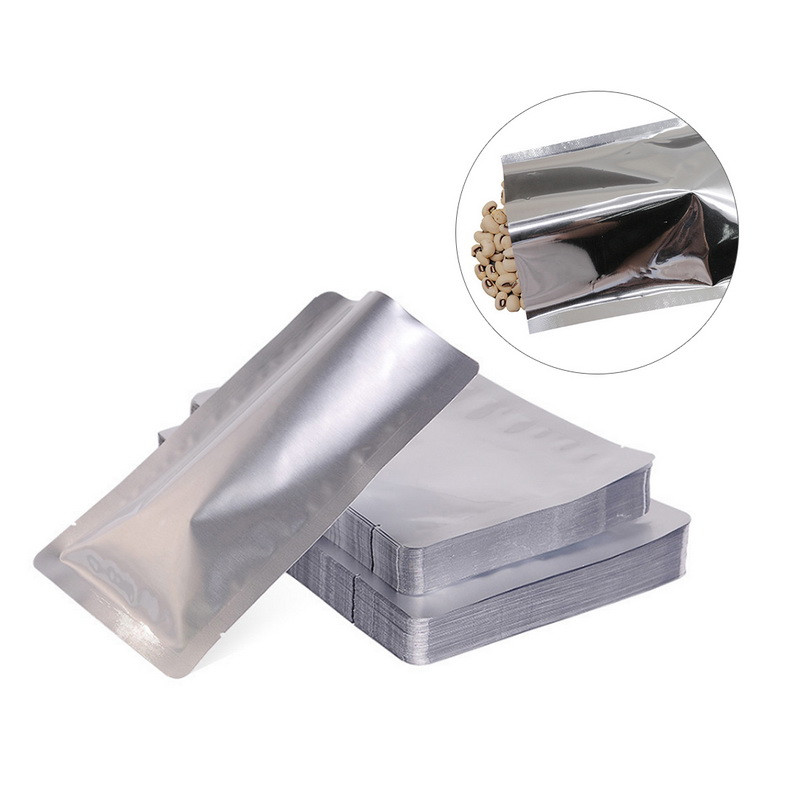 20pcs Open Top Heat Seal Aluminum Foil Bags Vacuum Storage Mylar Food Bags HU