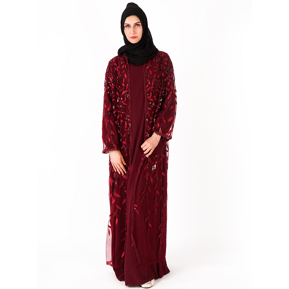 Muslim Dress Abaya Islamic Clothing For Women Malaysia Jilbab Djellaba Robe Musulmane Turkish Baju Kimono Kaftan Tunic L205