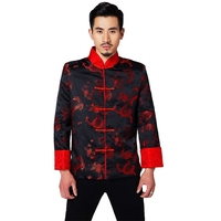 Men's Chinese Wedding Dress Groom Longfeng Clothes Red Chinese Shirt Tang Suit Chinese Traditional Dress for Men China Clothing