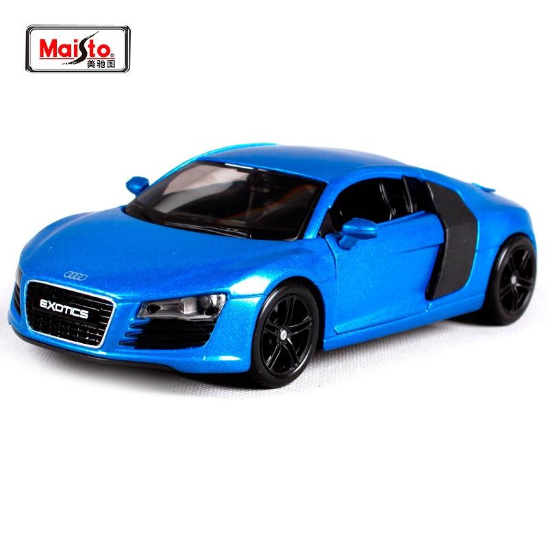 Maisto 1:24 Audi R8 Diecast Model Car Toy New In Box Spedizione gratuita 32504