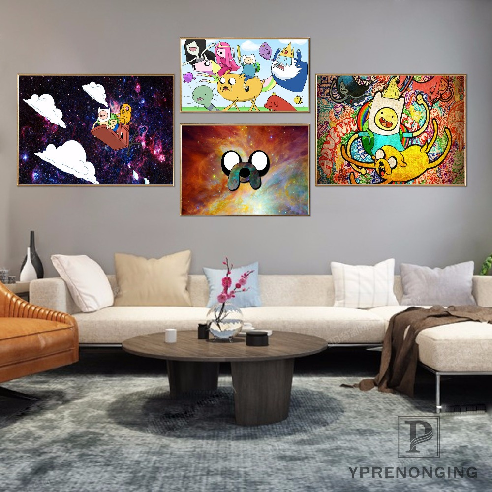 Custom Adventure Time Poster Art Home Decor Canvas Printing Silk Fabric Print Wall Poster No Frame 180317@02