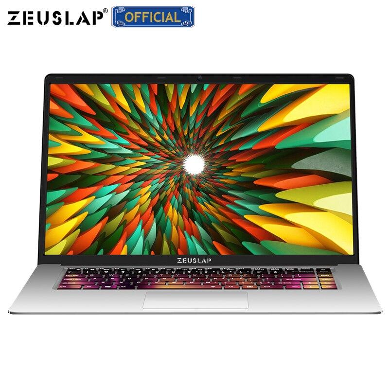 ZEUSLAP 15.6 polegada 8 GB Ram até 2 TB HDD Intel Quad Core CPU 1920*1080 P Full HD Sistema Win10 Escola Notebook Laptop Computador