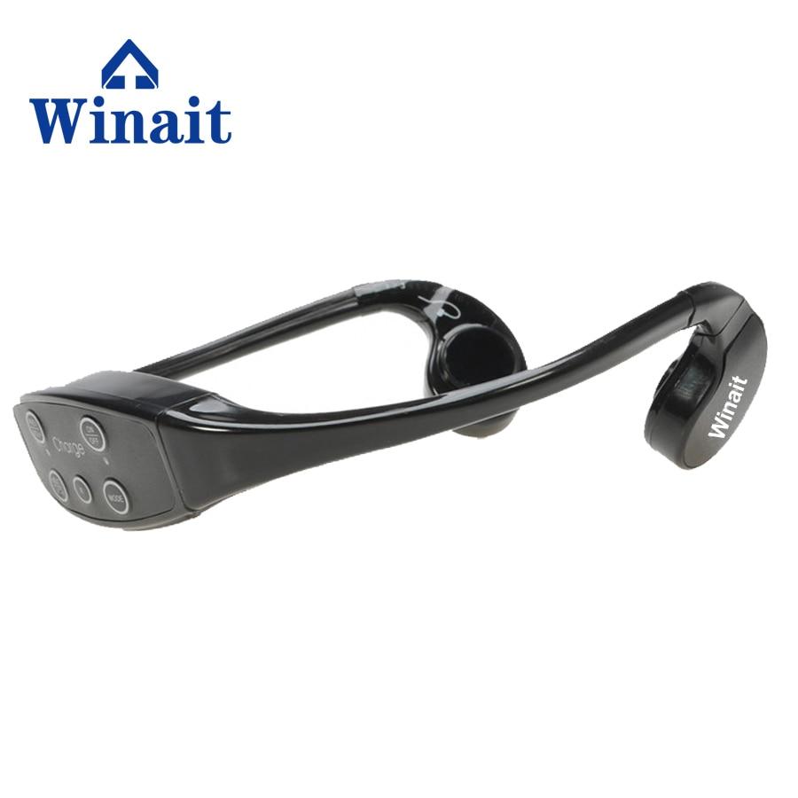 Winait bone conduction waterproof MP3 with Fm radio, waterproof sports mp3 headset free shipping