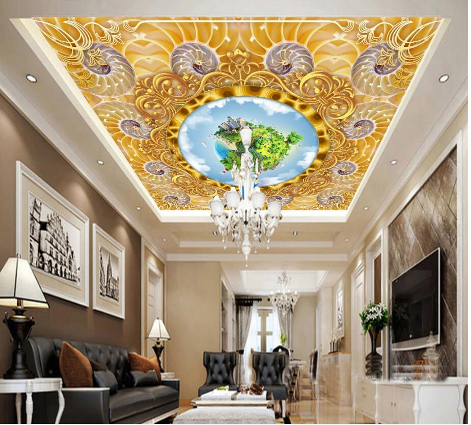 WDBH custom photo 3d ceiling murals wallpaper Gold and luxurious European earth pattern 3d wall murals wallpaper for walls 3 d custom 3d photo wallpaper for walls 3 d wall murals wallpaper 3d european style white building palace living room tv wall paper