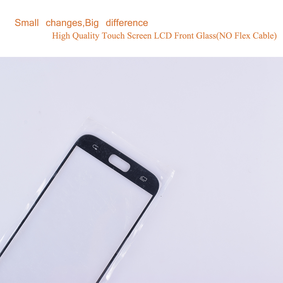 S7 For Samsung Galaxy S7 G930 G930F SM-G930F SM-G930FD Touch Screen Front Glass Panel TouchScreen Outer Glass Lens NO LCD