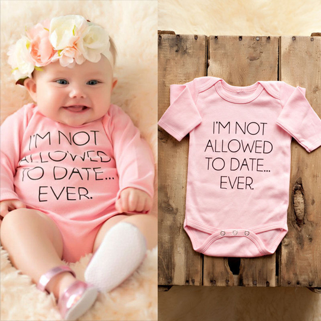 4ba309edd Newborn Baby Girls Pink Bodysuit Clothes Infant Girl Cute Bear Letter  Printed Long Sleeve Bodysuits Jumpsuit