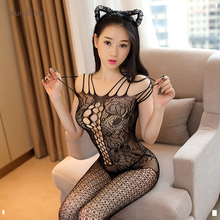 New Sexy Lingerie Jumpsuit Women Bodysuit Costumes Fishnet Stockings Clothing Set Hot Bodystockings Erotic Tights