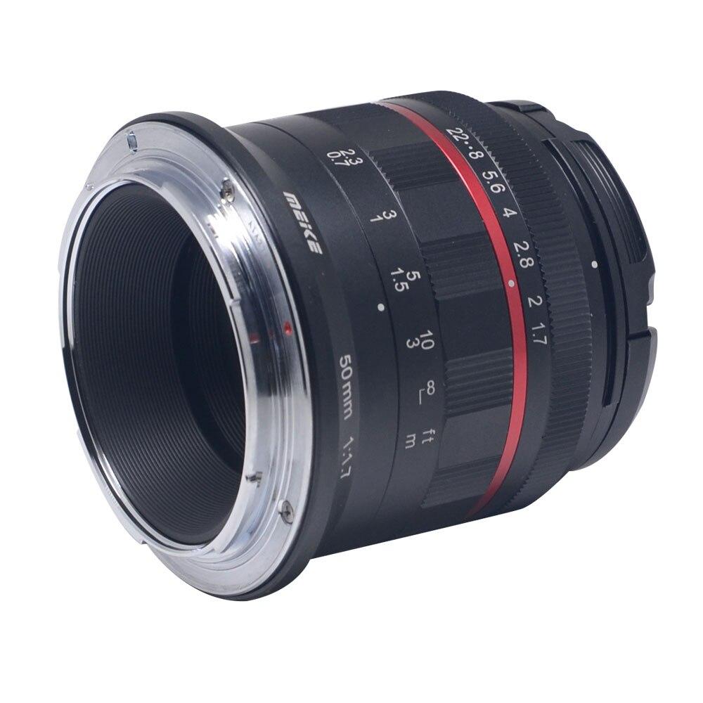 Meike 50mm f/1.7 objectif de mise au point manuelle à grande ouverture plein cadre pour Canon EOS R mount/pour Nikon Z Mount Z6 Z7 appareils photo sans miroir - 2