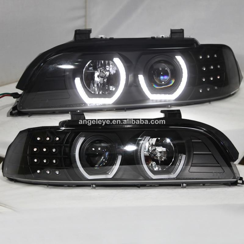 Для BMW E39 фар Ангельские глазки 1995 2003 год черный Корпус JX