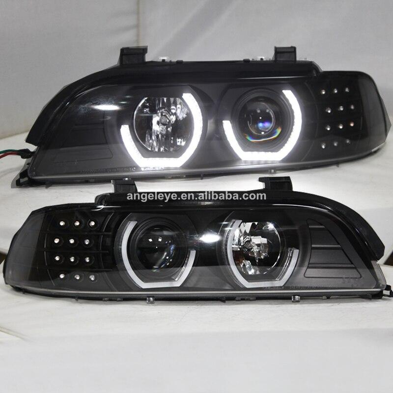 Pour BMW E39 phare ange yeux 1995-2003 an noir logement JX