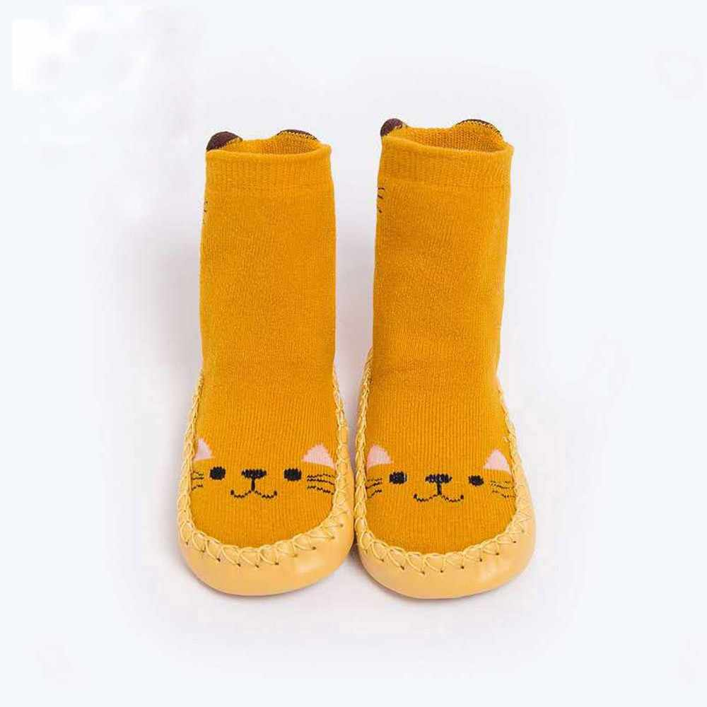 Kids Toddler Baby Girls Boys Winter Baby Cartoon Animal Thick Warm Anti-Slip Socks Slippers new born Floor Wear Quality #F482