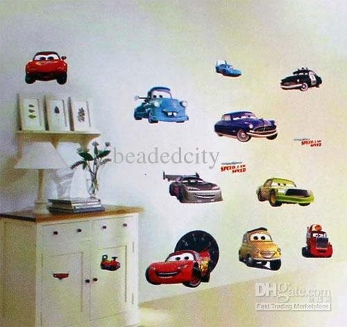 Wall Decor For Kids dean-funlife-tc1088-20pcs-boy-s-bedroom-wall-decor-cars-wall-stickers-kids -nursery-decal-decor
