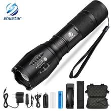 Led flashlight Ultra Bright torch CREE XML-T6 XM-L2 LED Flashlight 5 lighting Modes 8000 lumens Zoom LED torch use 18650 battery