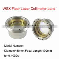 Free Shipping Import Quartz WSX Fiber Laser Focus Lens/Collimator Lens Dia.30mm for 0 4000W WSX/HSG laser head cutting machines