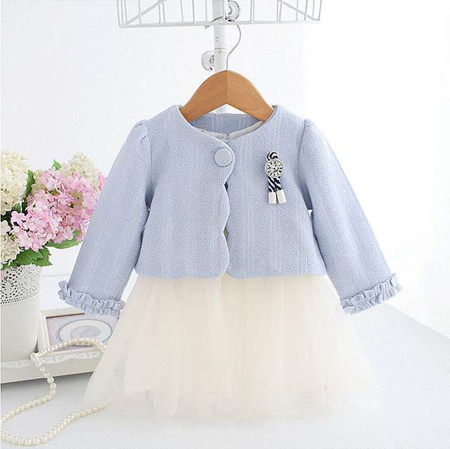 710b13e4c 5283 Fashion Autumn Toddler Kids Baby Girls Clothing Sets 2Pcs Coat+Dress  Children Clothes wholesale baby kids boutique clothing