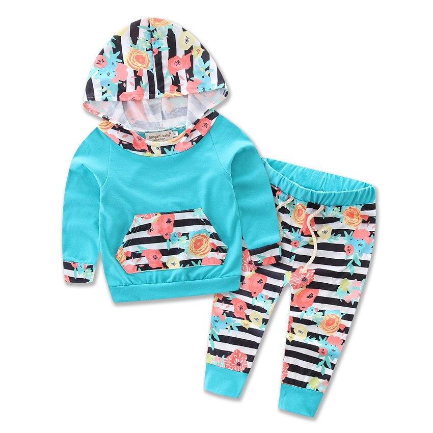 Новый Стиль Одежда для маленьких мальчиков пуловер с капюшоном топы Повседневное Полосат ...