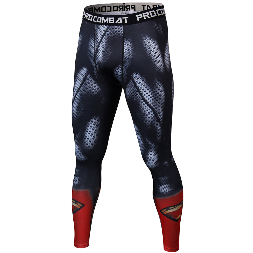 Skinny Sweatpants For Men Compression Pants Men Fashion Leggings Men Jogger Men 3D Fitness Pants Superman ElasticTrousers