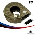 PQY RACING- 100% Full TITANIUM turbo heat shield T3 turbo blanket fit : t2,t25,t28,gt28,gt30,gt35, and most t3 turbo PQY1303- 2T