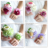 Elegant Wrist and Corsage Flower Set Bride Bridesmaid Groom and Important Guests Wedding Decorative Flower Wedding Decorative