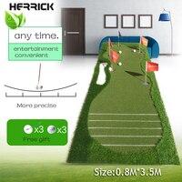 Golf training aids colocando putter green mat balanço escala dispositivo prática 5 buracos no verde 2016 nova