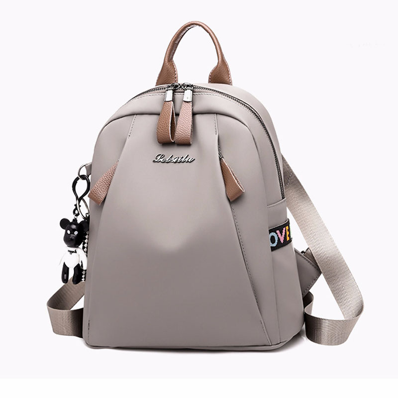 Fashion Backpack Shoulder-Bag Female-Bag Travel Solid-Color Casual Women's Simple Dual-Use