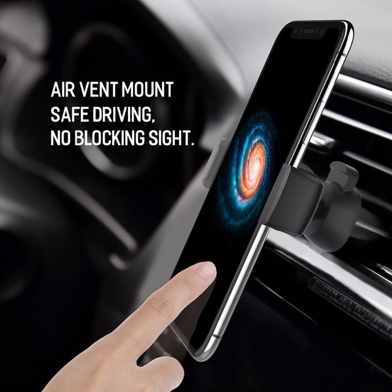HTB1eD5FkMKTBuNkSne1q6yJoXXaS - GETIHU Car Phone Holder For iPhone X XS Max 8 7 6 Samsung 360 Degree Support Mobile Air Vent Mount Car Holder Phone Stand in Car