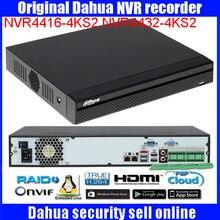 Original english DAHUA NVR4416-4KS2 NVR4432-4KS2 16/32CH 4K H.265 onvif Network Video Recorder DH-NVR4416-4KS2 DH-NVR4432-4KS2
