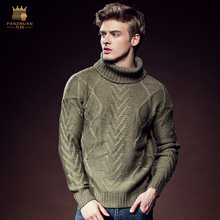 Free Shipping New Male men's man casual fashion winter loose turtleneck twist insulation sleeve thread knitted sweater 615130