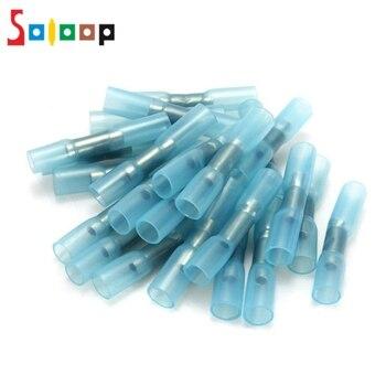 100 шт. синий изолированный термоусадочные стыковые разъемы провода электрические обжимные клеммы 1,5-2.5mm2 16-14AWG комплект