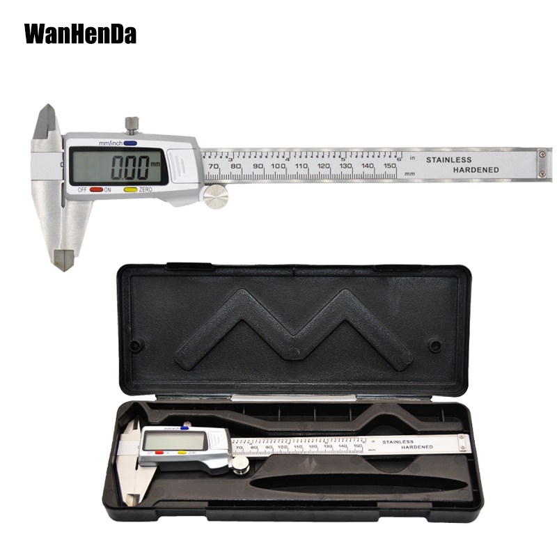 6in Stainless Steel High Precision Vernier Caliper Micrometer Ruler Gauge 150mm