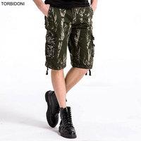 TORBIDONI 2017 Cargo Shorts Mens Merk-kleding Maat 29-40 Zomer Shorts Legergroen Bermuda Masculina Mens Militaire Cargo Shorts