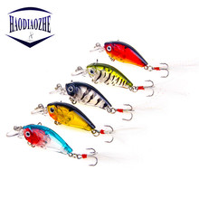 Купить с кэшбэком Crankbait Fishing Lure With Feathe 4.5cm 3.5g Iscas Artificiais Hard Japan Bait Minnow Swimbait Trout Bass Carp Fishing Wobblers