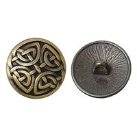 20PCs Metal Buttons Sewing Knots Round Bronze Tone 17mm