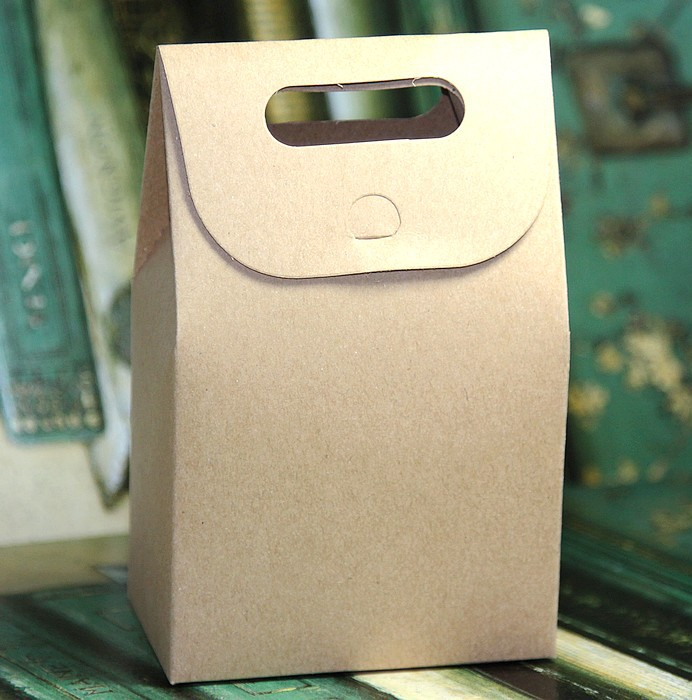 Hand Cake Paper Bags/food Packaging Bag 10CMX15.5CMX6CM