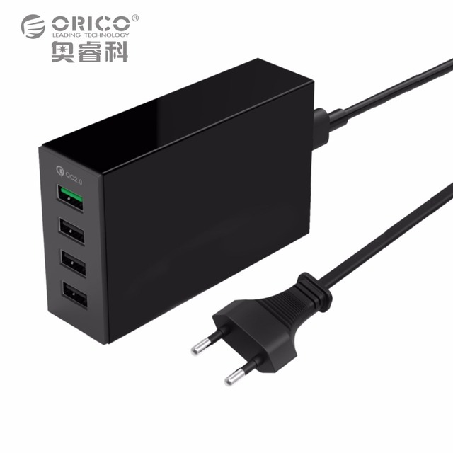 ORICO QSL-4U 4 Ports QC2.0 5V2.4A 9V2A 12V1.5A Desktop USB Quick Charger