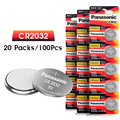 100pc button CR2032 DL2032 ECR2032 5004LC KCR2032 BR2032 Panasonic 3v battery control toy car lithium battery for watches