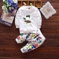 2017 del otoño del resorte de los bebés que arropan la manga larga + pantalones trajes para bebés ropa del muchacho chándal niños de los niños ropa