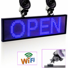 12V P5mm 64*16 Pixels SMD Wifi CAR Window Sucker LED Signage Programmable Scroll Display Panel for Taxi Uber Business
