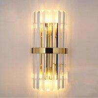Роскошная обувь с украшением в виде кристаллов золото бра прикроватные бра гостиная, спальня DIY настенный светильник 2 шт./упак. CE ROHS SAA UL G9 ла