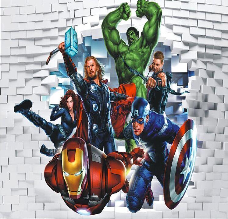 Online Get Cheap Avengers Wall Mural -Aliexpress.com ...